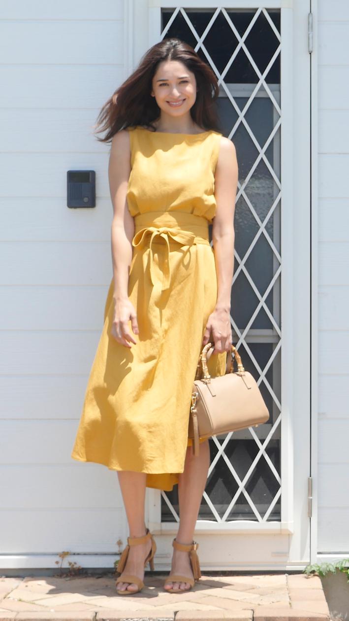 ハワイへ行くなら 高見えワンピ が1枚欲しい イエローワンピース サマードレス ファッション ファッションアイデア