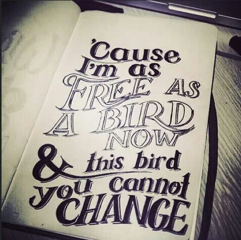 Cause I M Free As A Bird Now Lynard Skynard Mit Bildern Think