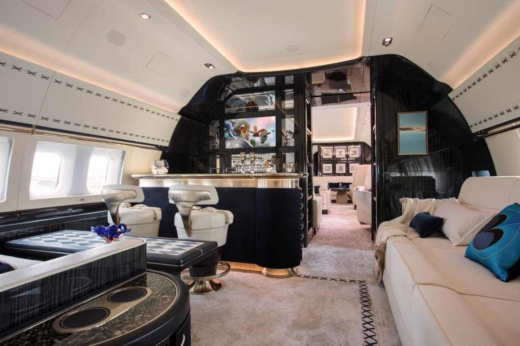 Winch Design Custom Boeing Business Jet Interior Private Jet