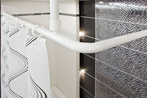 Shower Curtain Rail Rod 4 Way Use L Or U Shape With Cei L