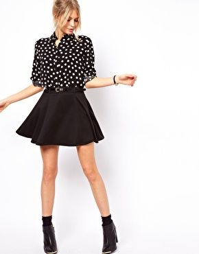 32c851d742 ASOS Ponte Mini Skirt With Belt