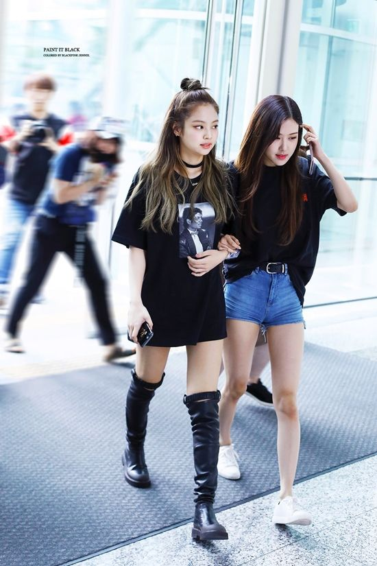 Official Korean Fashion : Blackpink Rose Airport Fashion #kpopfashion