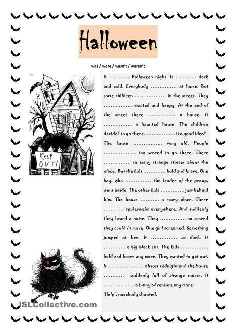 Halloween was / were | teaching | Pinterest | Englisch