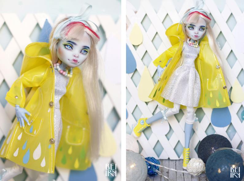 Monster high Abbey Bominable OOAK repaint custom doll #ooakmonsterhigh