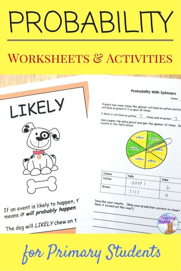 Probability Worksheets & Activities   Word poster, Wall words and ...
