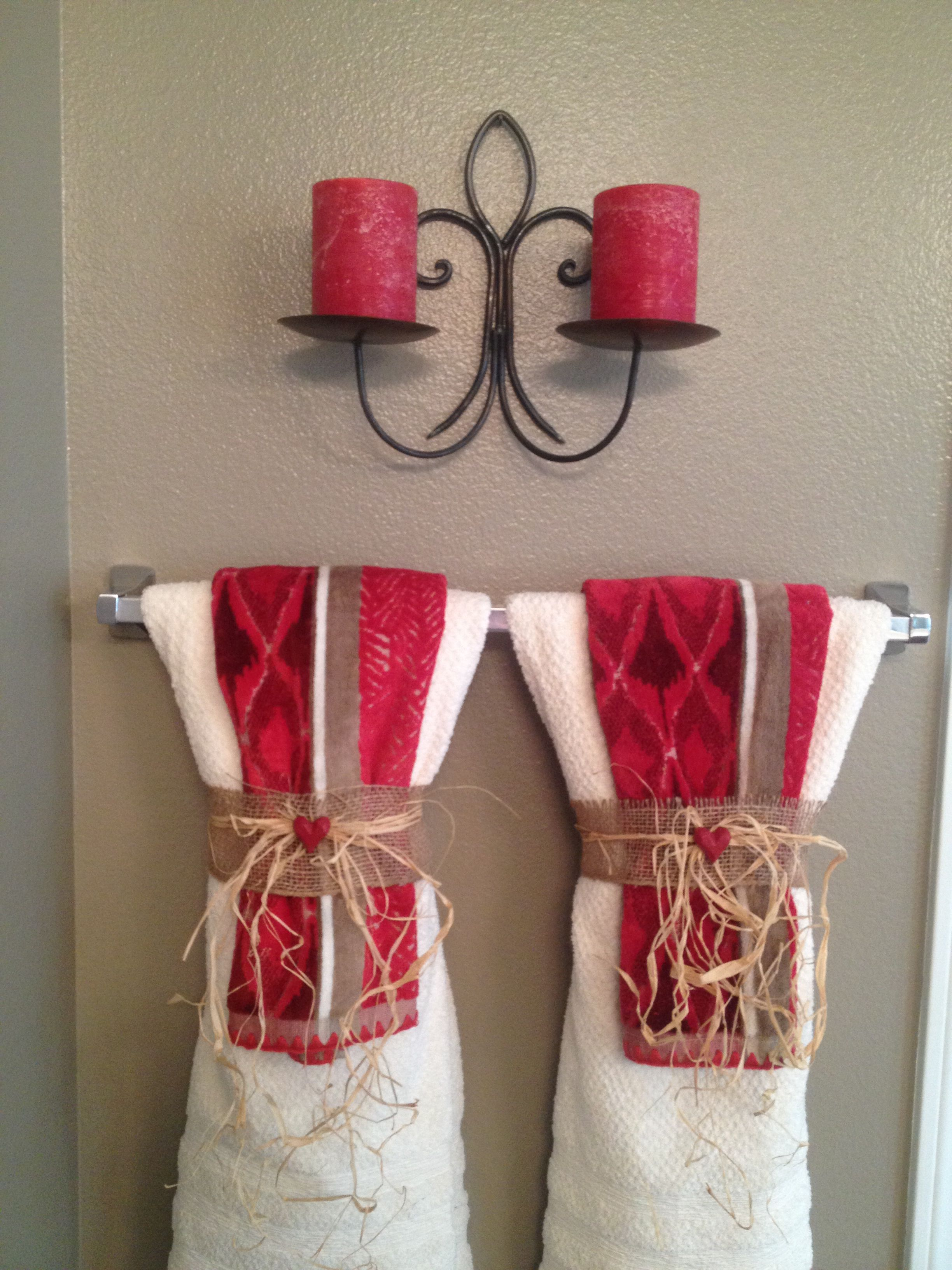 Towel Display Chicago Pinterest Towel Display Towels And - Red decorative towels for small bathroom ideas