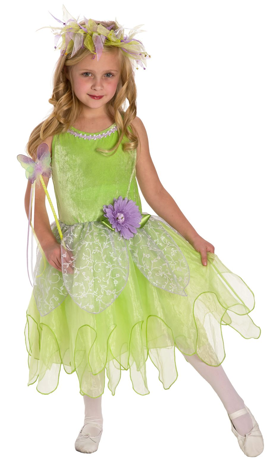 Deluxe Tinkerbell Fairy Dress Up Costume Girls Tinkerbelle Dress Dress Up Costumes Tinkerbell Dress Dress Up Outfits [ 1600 x 935 Pixel ]