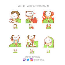 I Made Twitch Emotes For Dream It Would Be Great If You Guys Could Help Me Get This To Him Dreamwastaken Greatful Twitch Dream