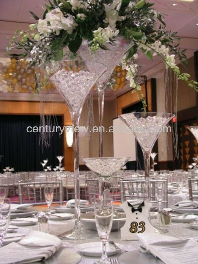 Clear Martini Vase For Wedding Decoration Glass Centerpiece Buy