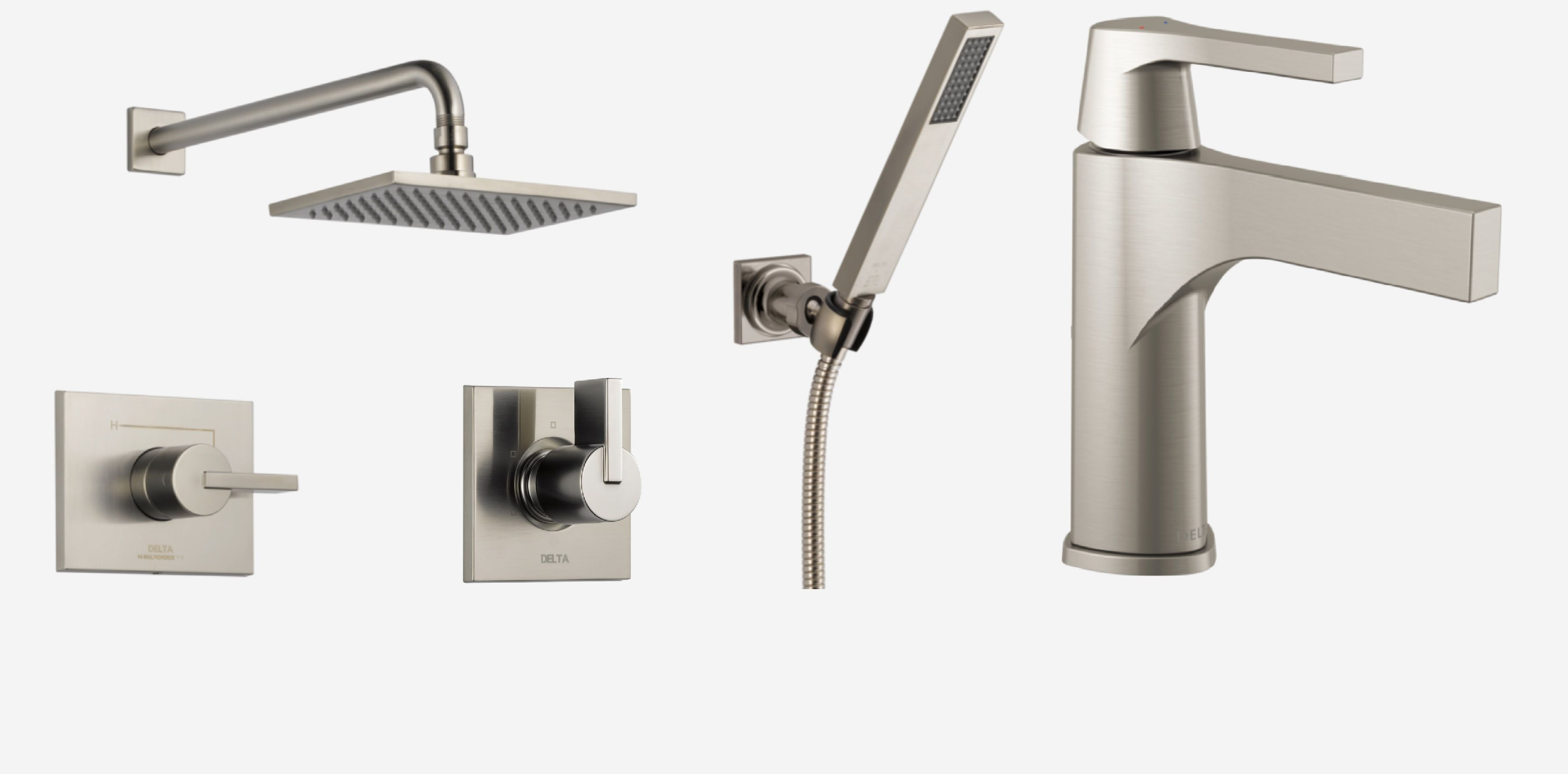 fresh faucets canada decoration nickel bathroom modern fixtures brushed delta gallery