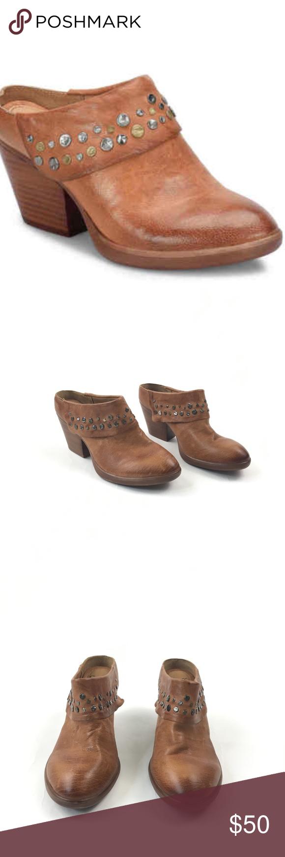 e7aa06739b3407 Sofft Gila Mule Leather Studded Sandal Sofft Gila Mule Brown Leather Studded  Retail Price   99.99