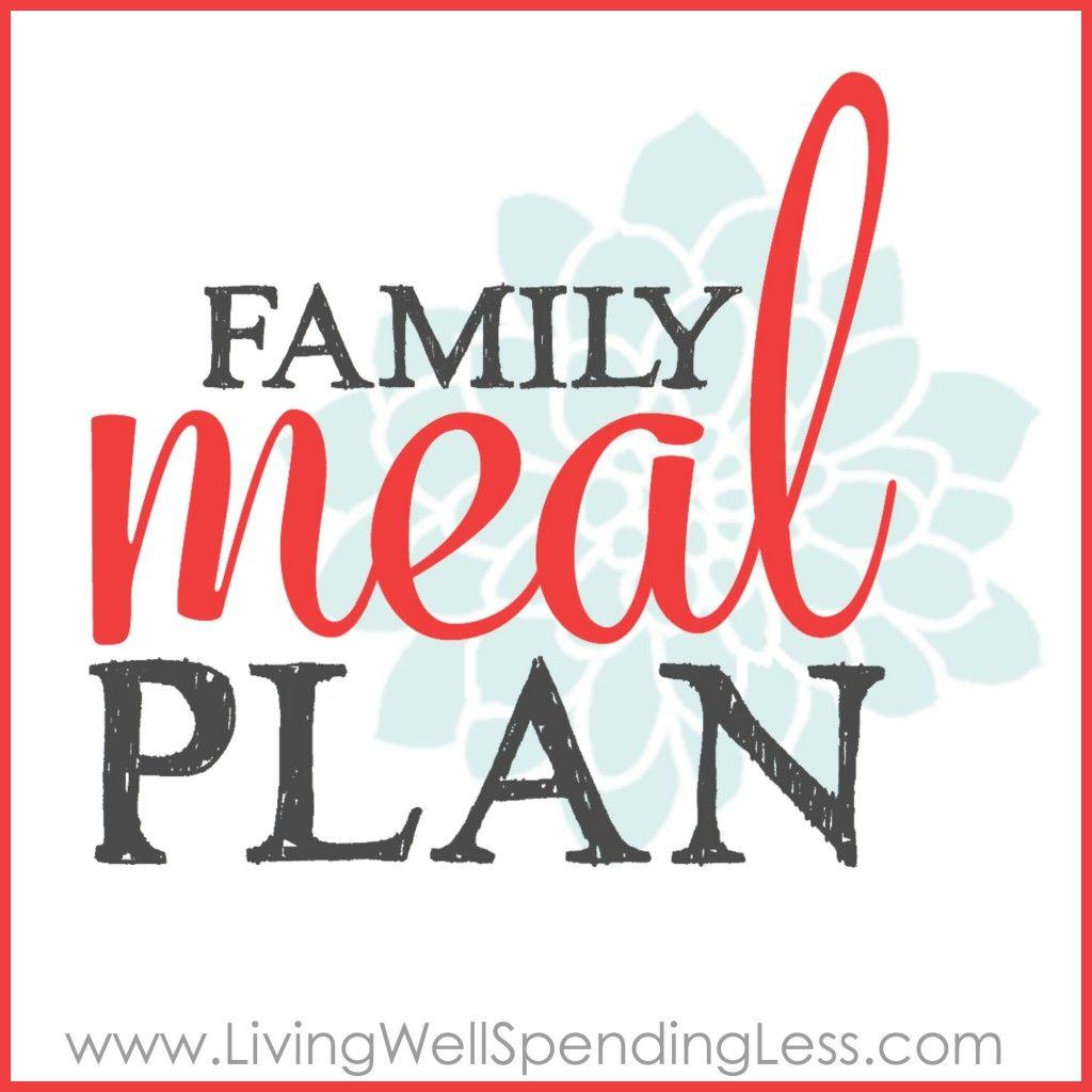 Printable Family Meal Plan Worksheet