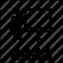 Presentation Training Seminar By Crumbs Pixels Icon Advertising Poster Presentation