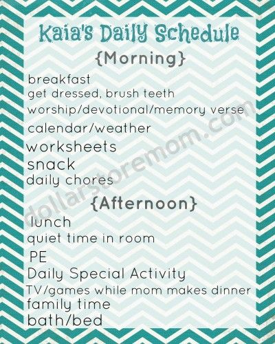 Free Printable Basic Daily Schedule Kids Pinterest Free - daily routine chart template