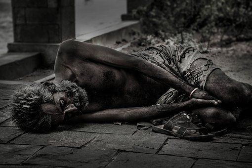Menschen, Obdachlose, Männlich