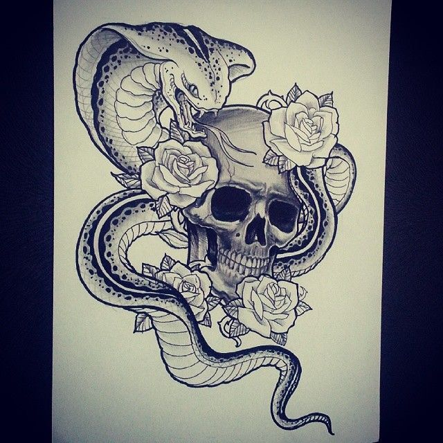 Download Free King Cobra Tattoo Sketches And Rose Tattoos On