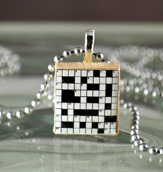 Crossword Puzzle Scrabble Tile Pendant Charm Resin An