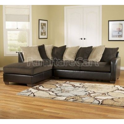 Gemini Chocolate Left Corner Chaise Sectional Sectional Sofa With Chaise Ashley Furniture Ashley Furniture Sectional