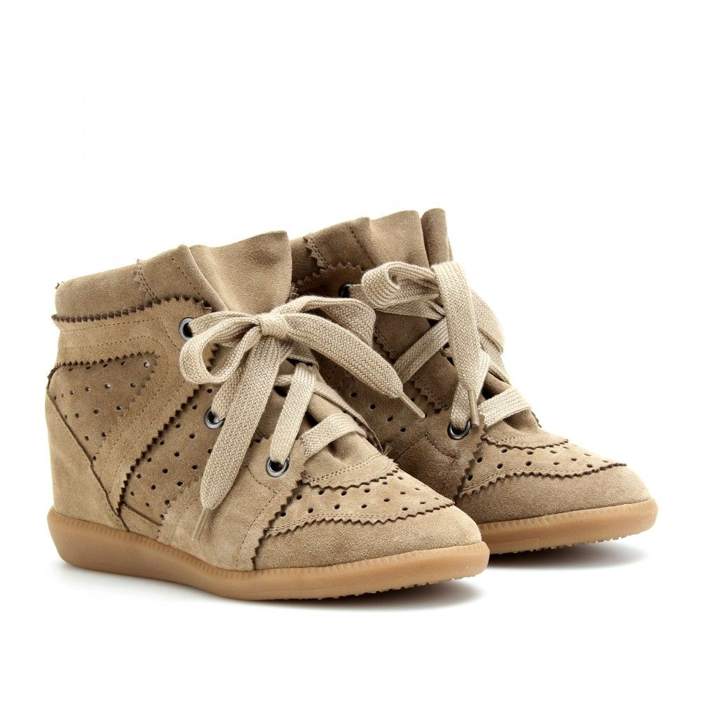d80069155fa BOBBY WEDGE SUEDE SNEAKERS seen @ www.mytheresa.com | Isabel Marant ...