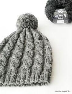 Photo of einfache Strickmütze mit Kabelmuster #knit #braid # hat, # baby hat stricken #simple #m …