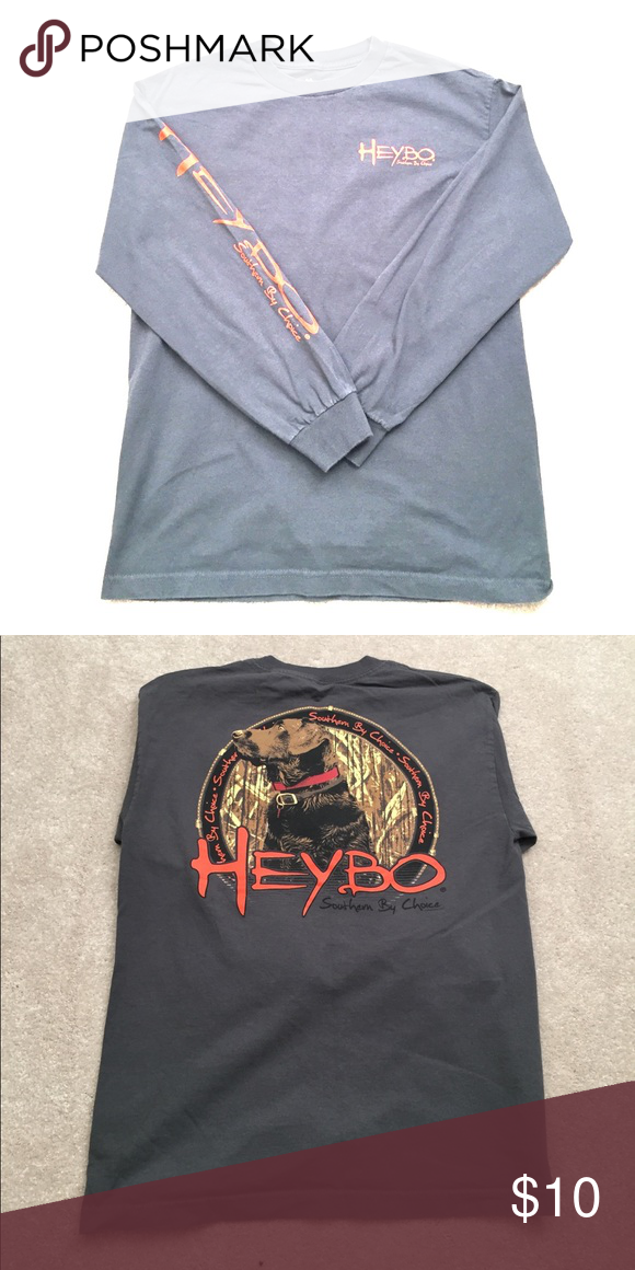 a3e98c38a Heybo Long Sleeve Tee Heybo Long Sleeve Tee w/ Chocolate Lab on back Heybo  Shirts Tees - Long Sleeve