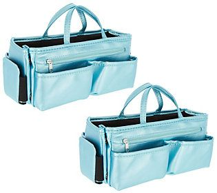 d136147314 Set of 2 Ready Set Go Expandable Bag Organizersby Lori Greiner in ...
