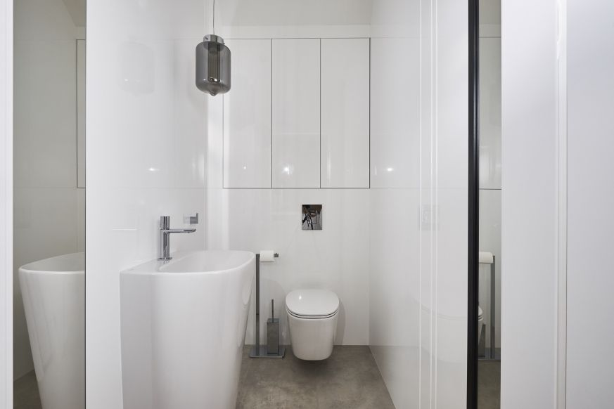 Foornipl Projket Vprojekt Mała Biała łazienka Z
