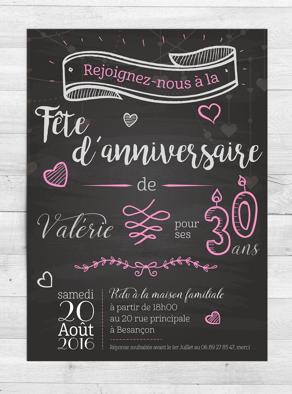 Carte Invitation Anniversaire 40 Ans Gratuite A Imprimer