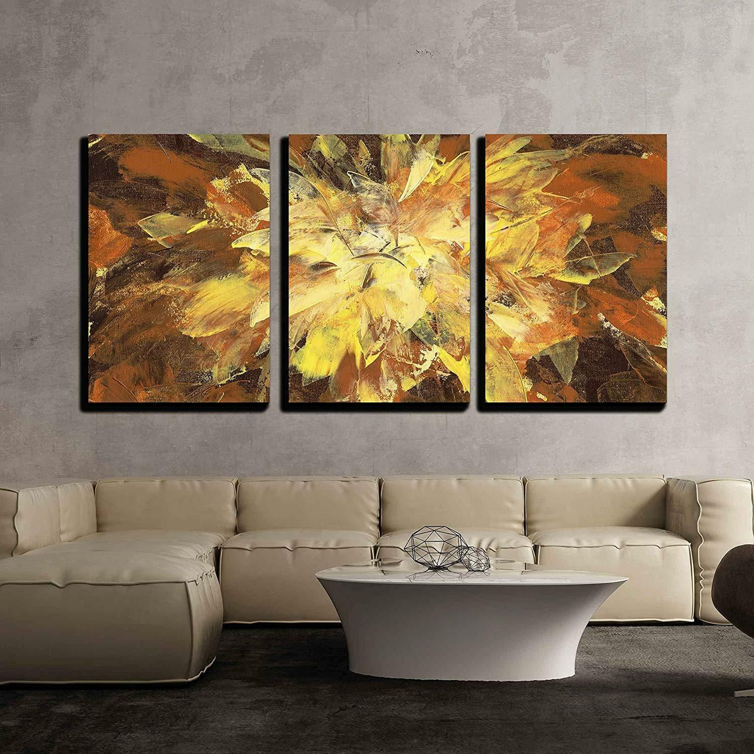 Wall26 Abstract Backround Handmade Oil Painting Cvs 24 X36 X3 Panels In 2020 Wall Canvas Painting Abstract Canvas Wall Art Cheap Canvas Art
