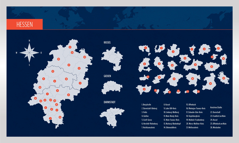 Landkarte Hessen Mit Landkreisen Landkarte Karten Hessen