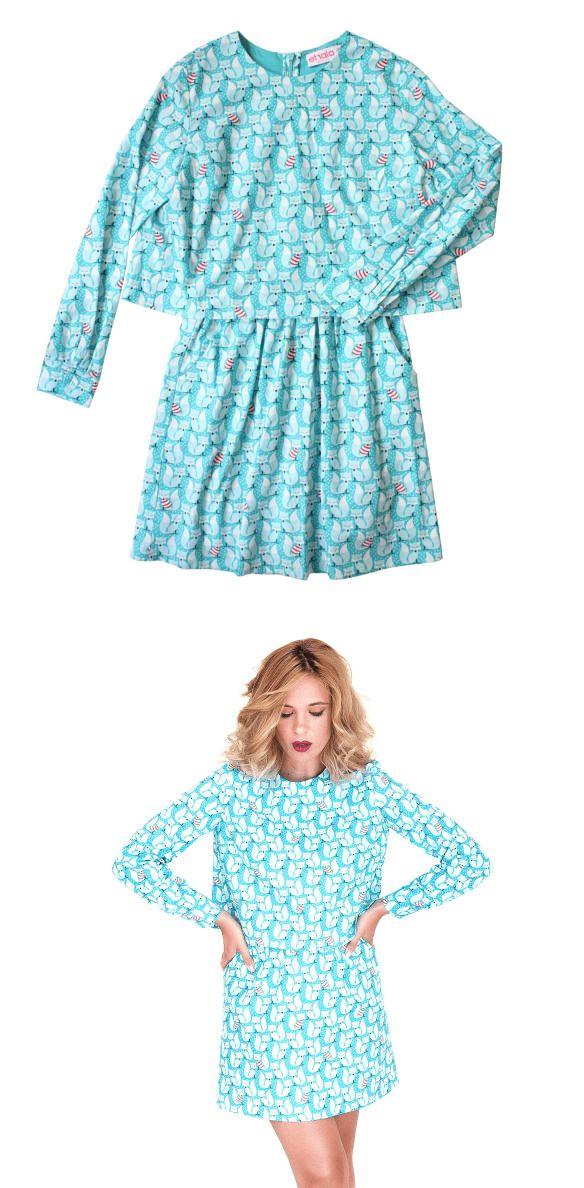Etrala London   Wolf & Badger  #madeinbritain #printeddress #turquoise