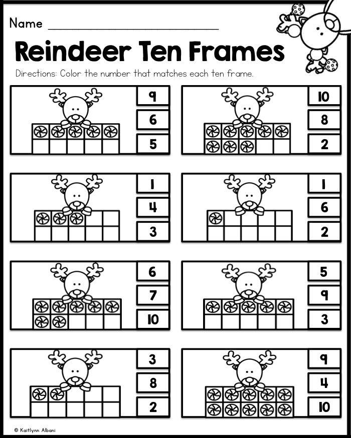 Christmas Kindergarten Printables - Math and Literacy | Kindergarten ...