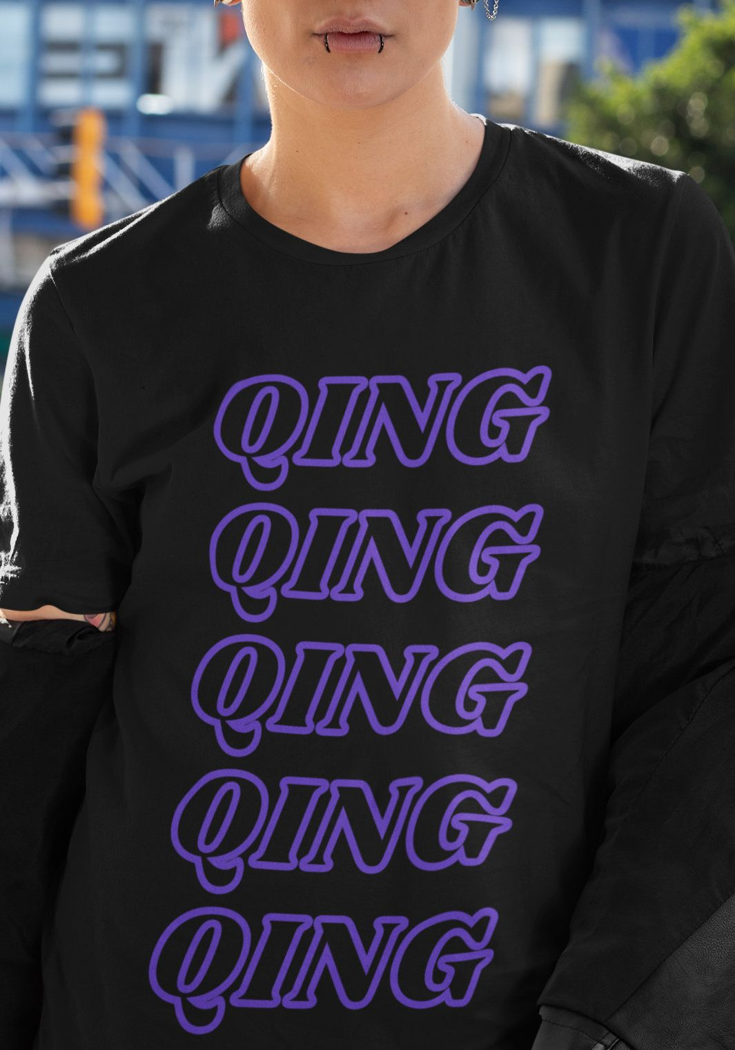King Queen? But what about in between? QING Non-binary Pronouns T-shirt #lgbtqpride #genderqueer #nonbinarygifts #pronounsshirt #theythentheirs #qing #nonbinaryfashion #tomboystyle #lesbianfashion #genderfluid #femmemasculine