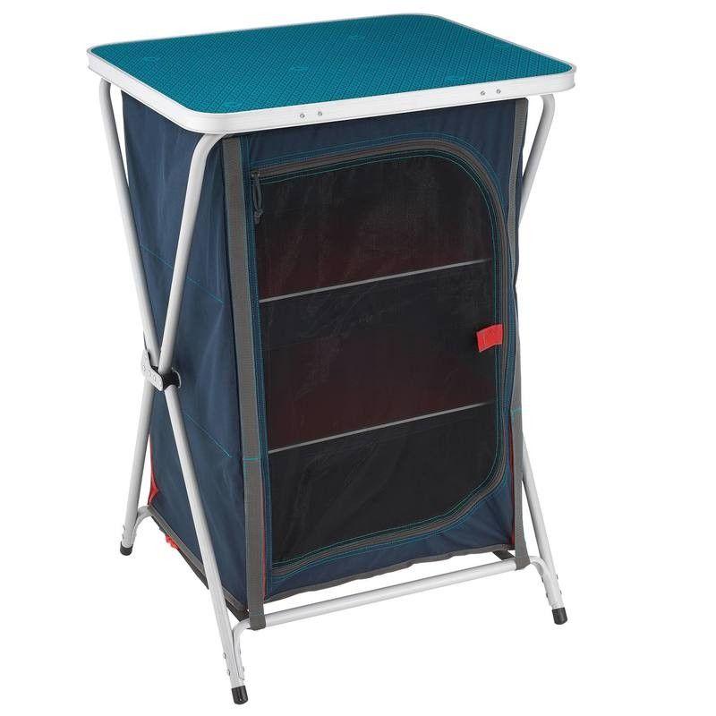 Camping-Küchenschrank zusammenklappbar blau QUECHUA | Hiking and Camping