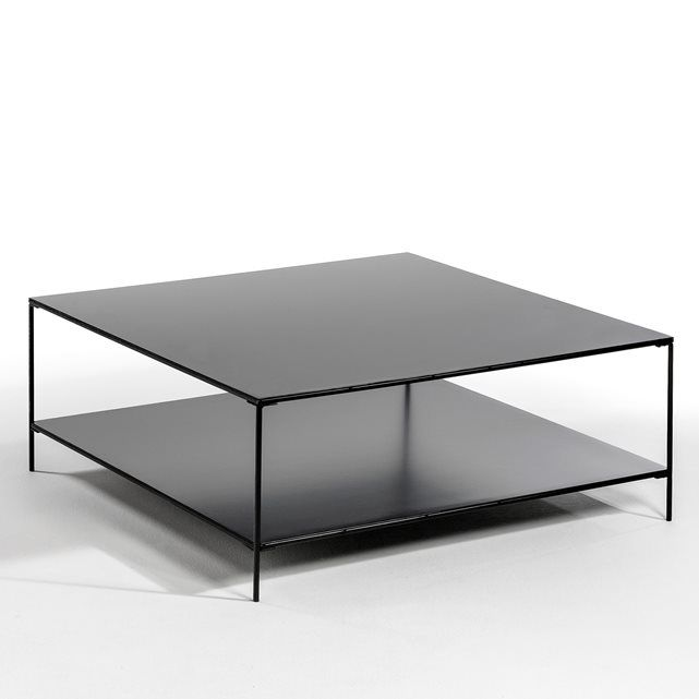 Salontafel Yram Heel Trendy Industriele Stijl Deze Salontafel In Metaal Heeft Een Dubbel Plateau Eigenschapp Table Basse Table Basse Verre