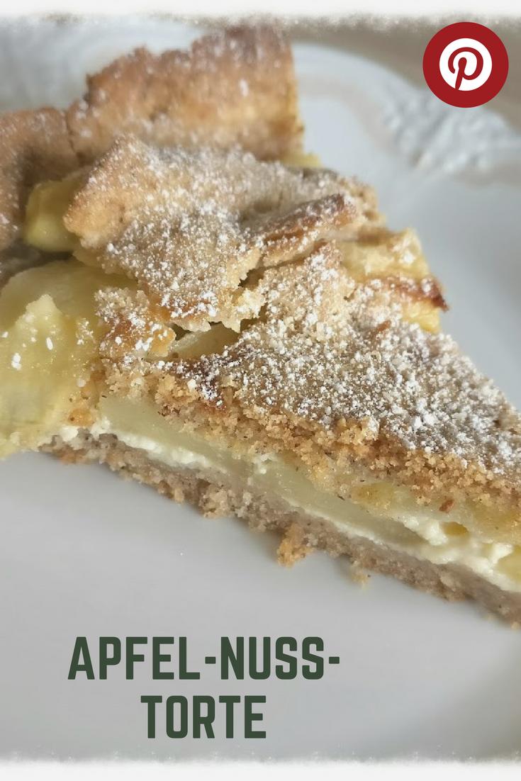 Rezept Apfel Nuss Torte Knuspriger Boden Raffiniert Belegt