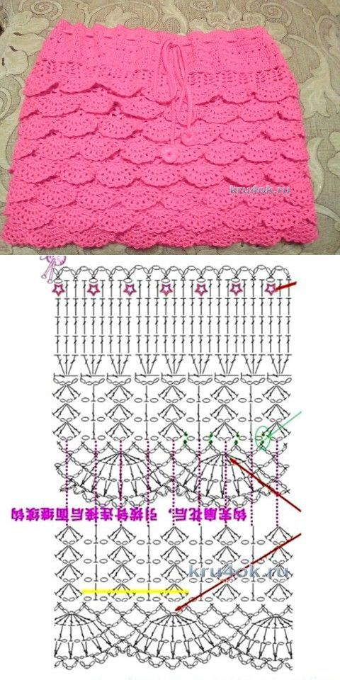 вяжем детям | Crochet, Crochet skirts and Crochet baby