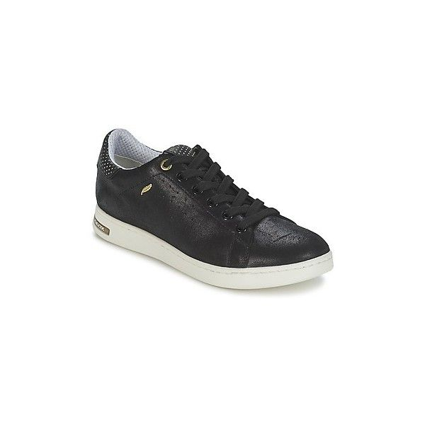 Geox Womens Leather Trainers Sneakers / Shoes Black