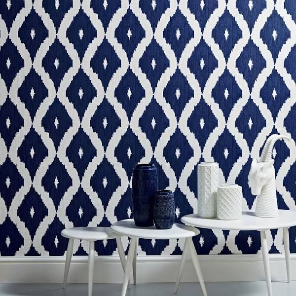 White Navy And Silver Wallpaper Brown Wallpaper Blue