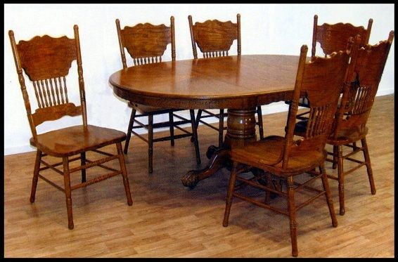 I Love My Pressed Back Chairs And Claw Foot Table Dining Chair Makeover Oak Dining Sets Kitchen Table Oak