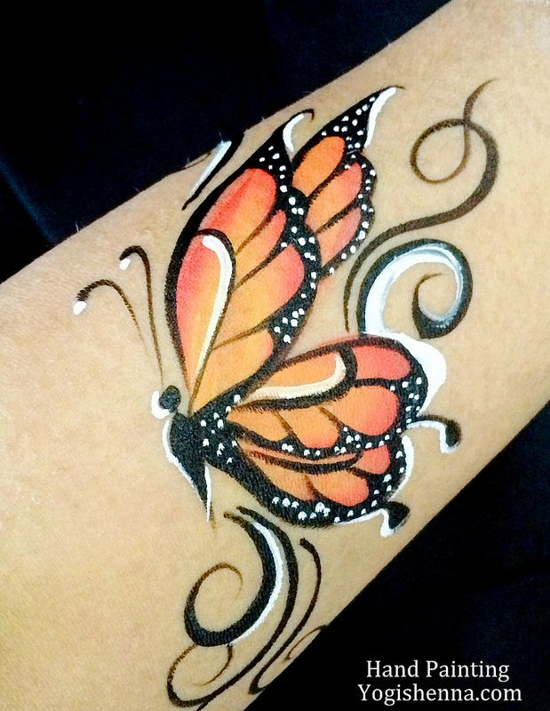 Face Painting Butterfly By Yogishenna Com Butterfly Face