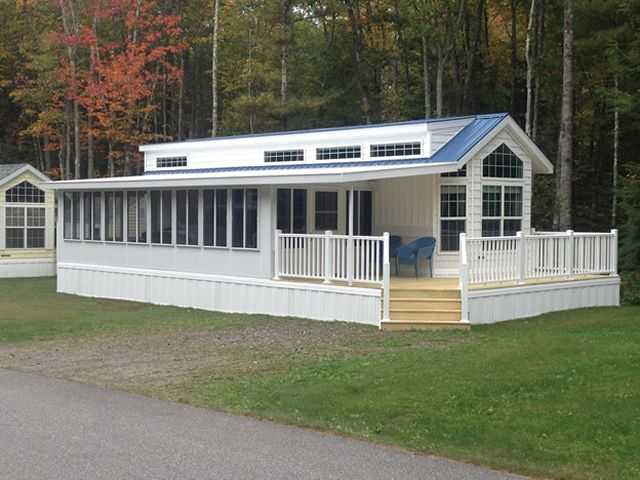 Angled Roof Over Sunroom Park Model Homes House With