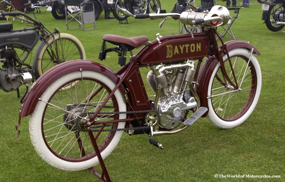 1914 #Dayton Model 9 - 9 hp 1000cc #VTwin #Motorcycle #Manufactured by the Davis #Sewing #Machine #Company from 1914-1918 #LetsGetWordy