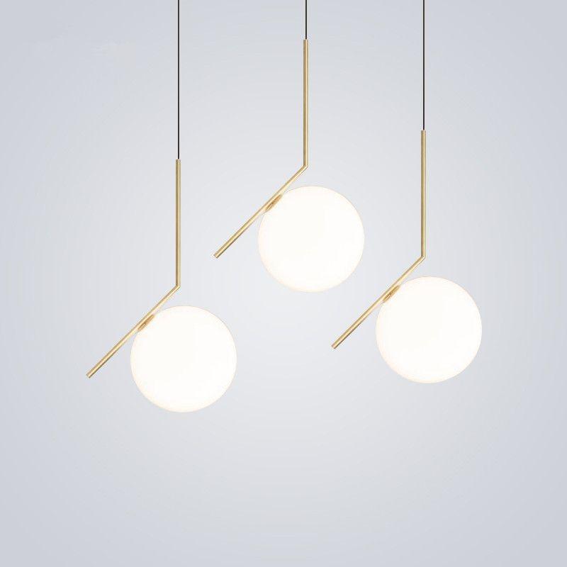 Nordic Globe Round Glass Ball Pendant Light For Bedroom Living Room Kitchen Light Fix Living Room Light Fixtures Glass Pendant Lamp Glass Ball Pendant Lighting