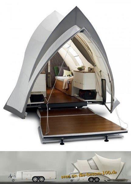 designer zelt anh nger luxus wohnwagen wohnwagen. Black Bedroom Furniture Sets. Home Design Ideas