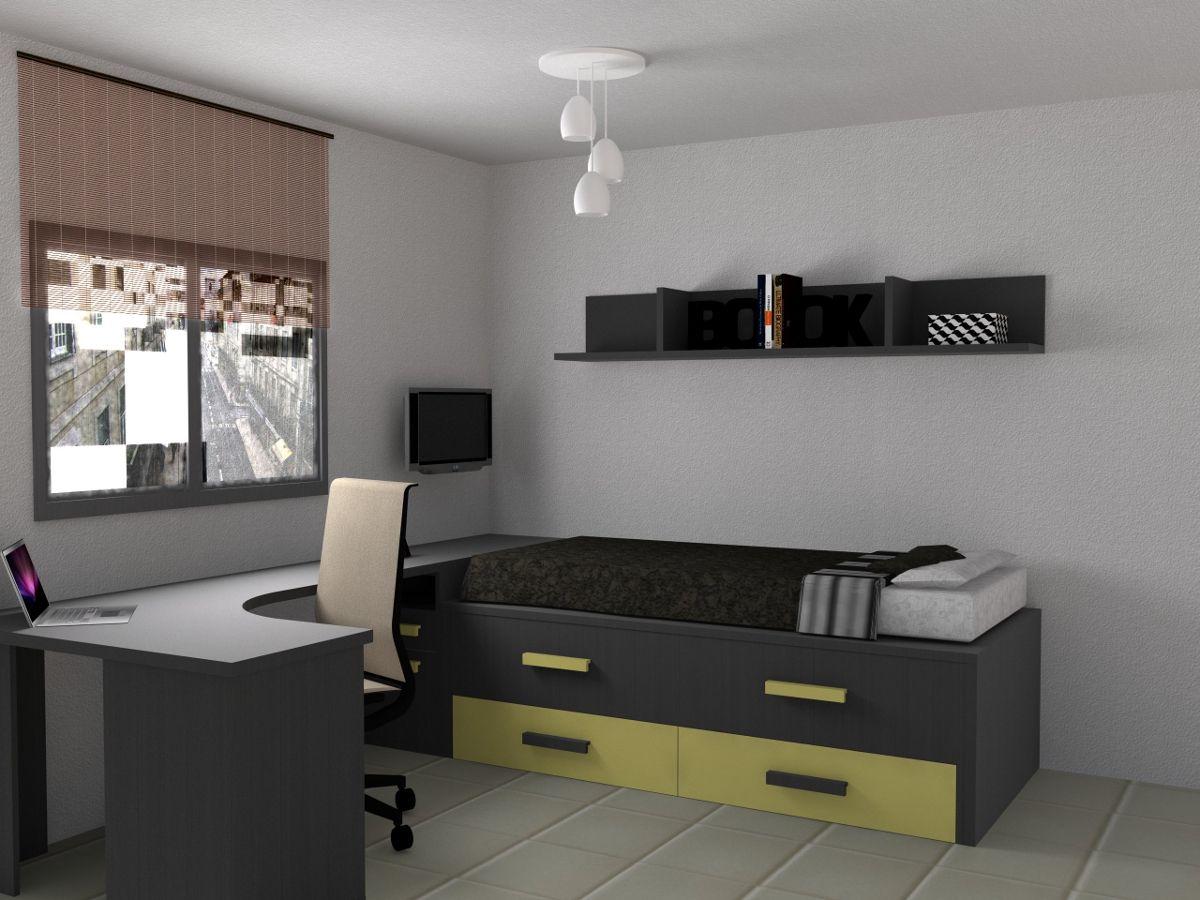 Dise o 3d para unos clientes de una habitaci n juvenil for Habitacion juvenil completa