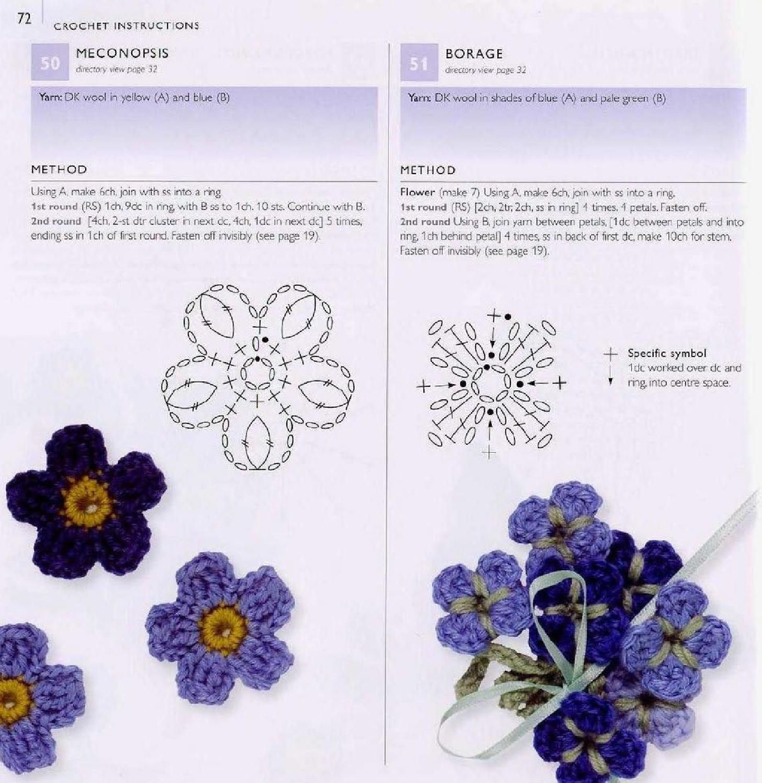 100 flowers to knit & crochet | Flores en crochet, Crochet patrones ...