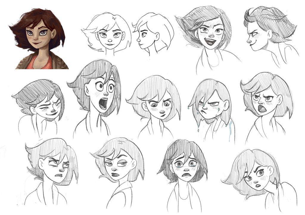 Sketches Facial Expressions Mel By Renroyal D82jfmc Jpg 1024