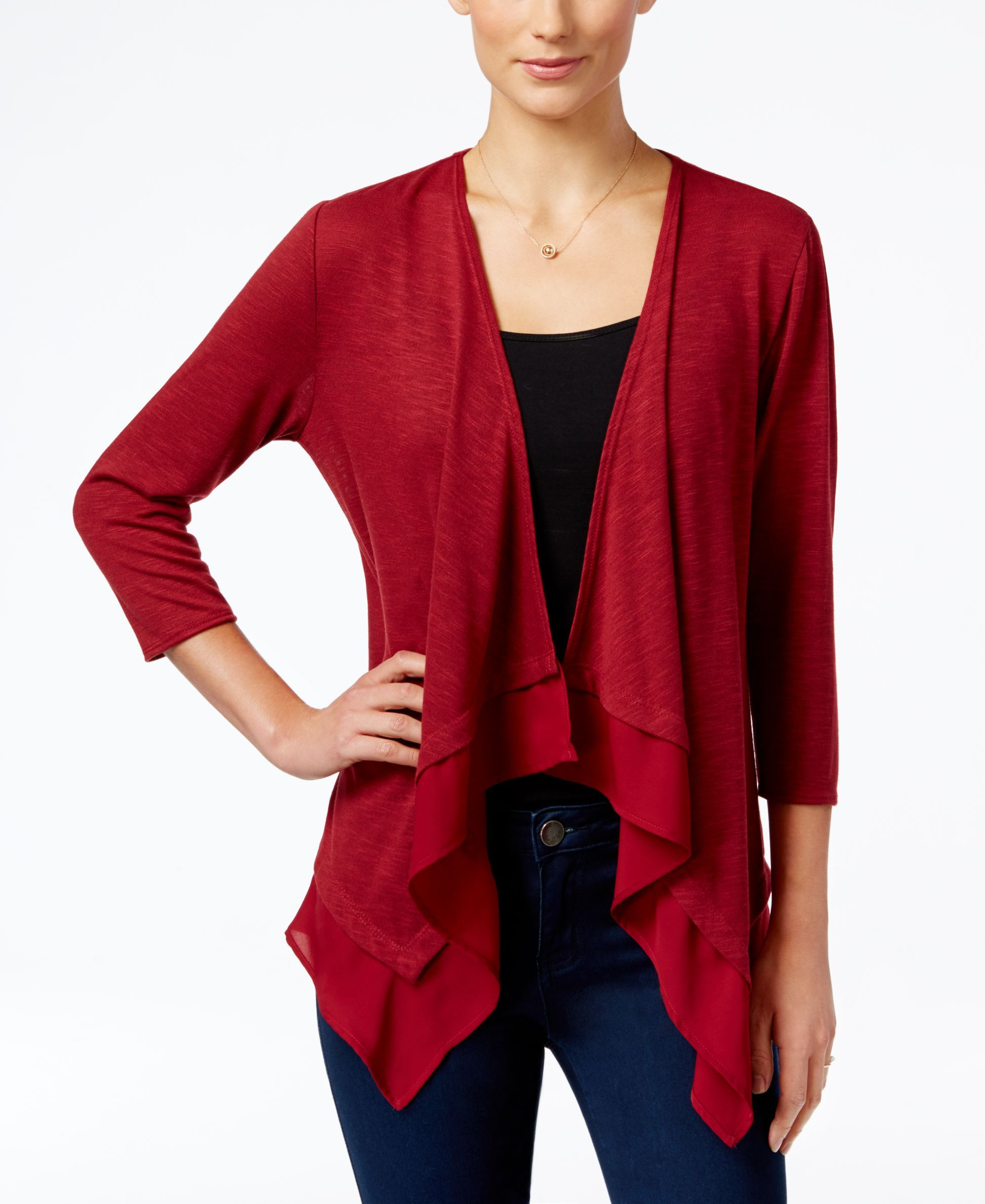 Ny Collection Petite Waterfall Cardigan | favorite things ...