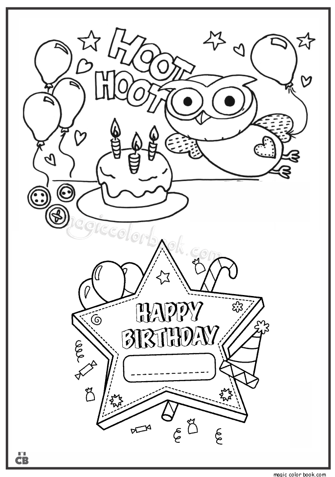 Happy Birthday coloring pages 09   Warna